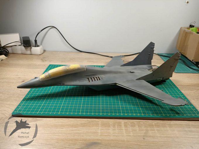 MiG-29UB Prace po nowym roku